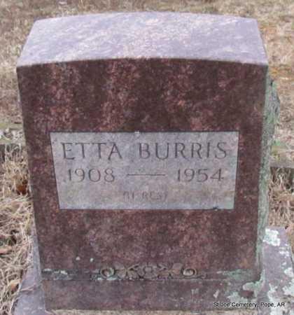 BURRIS, ETTA - Pope County, Arkansas   ETTA BURRIS - Arkansas Gravestone Photos