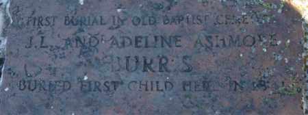 BURRIS, INFANT (CLOSEUP) - Pope County, Arkansas | INFANT (CLOSEUP) BURRIS - Arkansas Gravestone Photos