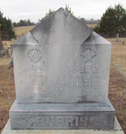 BURRIS, JAMES LITTLETON - Pope County, Arkansas | JAMES LITTLETON BURRIS - Arkansas Gravestone Photos