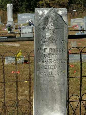 BURRIS, MARY E - Pope County, Arkansas   MARY E BURRIS - Arkansas Gravestone Photos