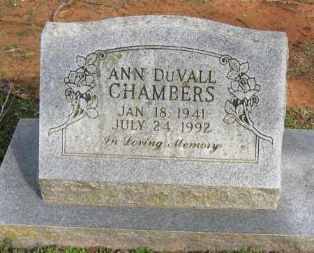 DUVALL CHAMBERS, ANN - Pope County, Arkansas | ANN DUVALL CHAMBERS - Arkansas Gravestone Photos