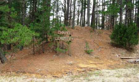*CHAPEL CEMETERY SIGN,  - Pope County, Arkansas |  *CHAPEL CEMETERY SIGN - Arkansas Gravestone Photos