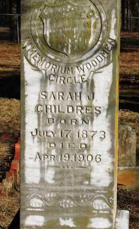 CHILDERS, SARAH J - Pope County, Arkansas   SARAH J CHILDERS - Arkansas Gravestone Photos