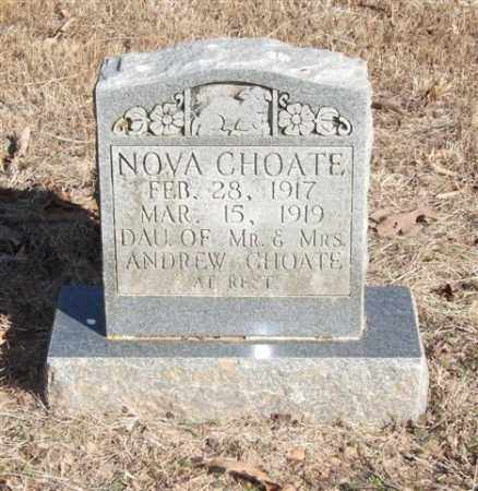 CHOATE, NOVA - Pope County, Arkansas | NOVA CHOATE - Arkansas Gravestone Photos