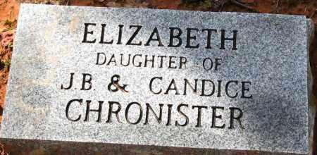 CHRONISTER, ELIZABETH - Pope County, Arkansas | ELIZABETH CHRONISTER - Arkansas Gravestone Photos