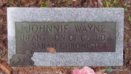 CHRONISTER, JOHNNIE WAYNE - Pope County, Arkansas   JOHNNIE WAYNE CHRONISTER - Arkansas Gravestone Photos