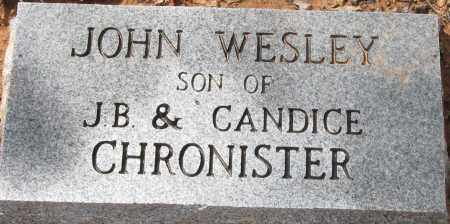 CHRONISTER, JOHN WESLEY - Pope County, Arkansas   JOHN WESLEY CHRONISTER - Arkansas Gravestone Photos