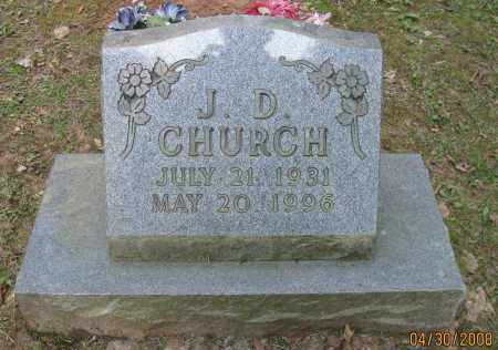 CHURCH, J D - Pope County, Arkansas   J D CHURCH - Arkansas Gravestone Photos