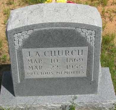 CHURCH, J A - Pope County, Arkansas   J A CHURCH - Arkansas Gravestone Photos
