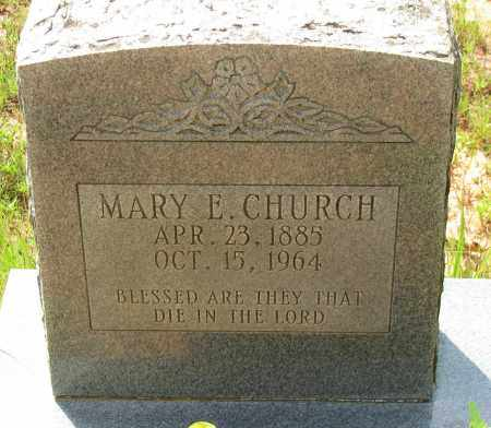 CHURCH, MARY E - Pope County, Arkansas | MARY E CHURCH - Arkansas Gravestone Photos