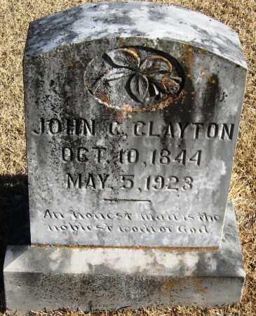 CLAYTON (VETERAN CSA), JOHN C - Pope County, Arkansas | JOHN C CLAYTON (VETERAN CSA) - Arkansas Gravestone Photos