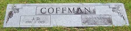COFFMAN, JANE - Pope County, Arkansas | JANE COFFMAN - Arkansas Gravestone Photos