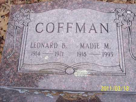 COFFMAN, LEONARD B. - Pope County, Arkansas | LEONARD B. COFFMAN - Arkansas Gravestone Photos