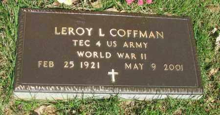 COFFMAN (VETERAN WWII), LEROY L - Pope County, Arkansas | LEROY L COFFMAN (VETERAN WWII) - Arkansas Gravestone Photos