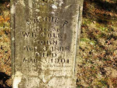 COLE, MAGGIE F - Pope County, Arkansas   MAGGIE F COLE - Arkansas Gravestone Photos
