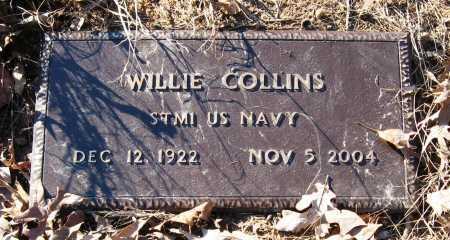 COLLINS  (VETERAN), WILLIE - Pope County, Arkansas | WILLIE COLLINS  (VETERAN) - Arkansas Gravestone Photos