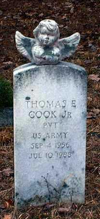 COOK, JR (VETERAN), THOMAS E - Pope County, Arkansas | THOMAS E COOK, JR (VETERAN) - Arkansas Gravestone Photos