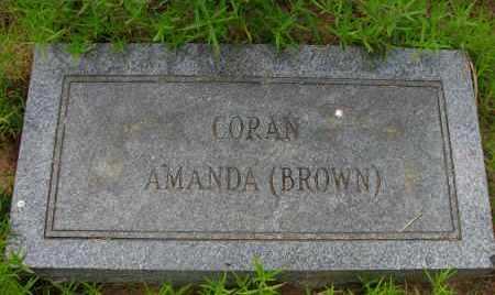 BROWN CORAN, AMANDA - Pope County, Arkansas | AMANDA BROWN CORAN - Arkansas Gravestone Photos