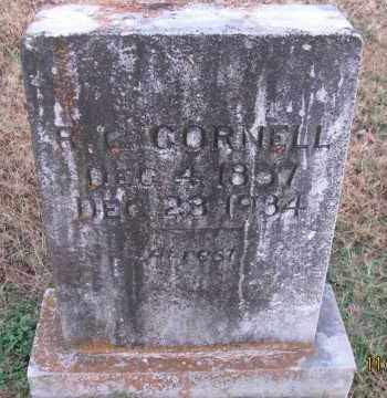 CORNELL, R  G - Pope County, Arkansas | R  G CORNELL - Arkansas Gravestone Photos