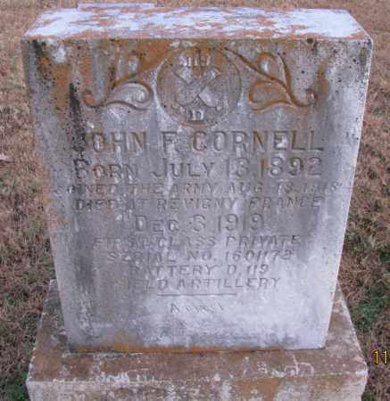 CORNELL (VETERAN WWI), KIA, JOHN F - Pope County, Arkansas | JOHN F CORNELL (VETERAN WWI), KIA - Arkansas Gravestone Photos