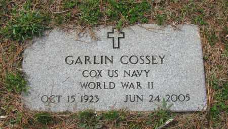COSSEY (VETERAN WWII), GARLIN - Pope County, Arkansas   GARLIN COSSEY (VETERAN WWII) - Arkansas Gravestone Photos
