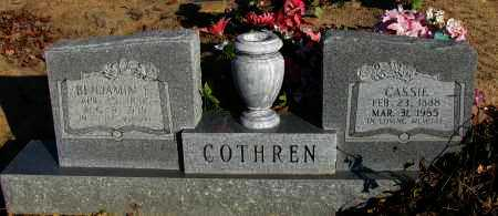 COTHREN, BENJAMIN F - Pope County, Arkansas | BENJAMIN F COTHREN - Arkansas Gravestone Photos