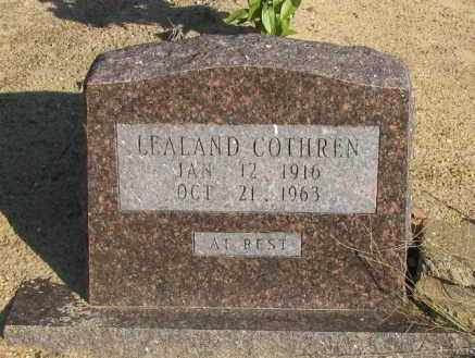 COTHREN, LEALAND - Pope County, Arkansas | LEALAND COTHREN - Arkansas Gravestone Photos