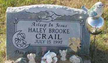 CRAIL, HALEY BROOKE - Pope County, Arkansas | HALEY BROOKE CRAIL - Arkansas Gravestone Photos