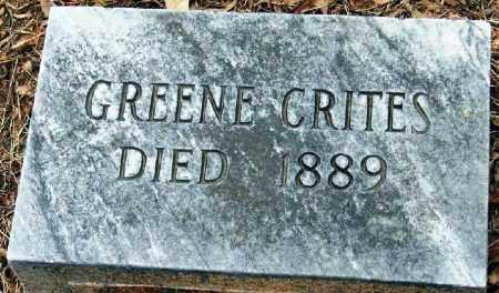 CRITES, GREENE - Pope County, Arkansas | GREENE CRITES - Arkansas Gravestone Photos