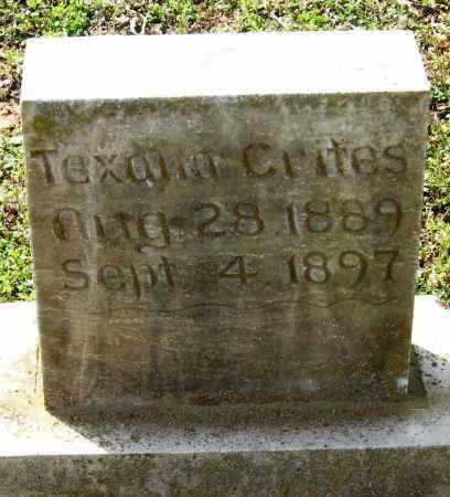 CRITES, TEXANA - Pope County, Arkansas | TEXANA CRITES - Arkansas Gravestone Photos