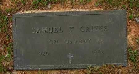 CRITES (VETERAN), SAMUEL T - Pope County, Arkansas | SAMUEL T CRITES (VETERAN) - Arkansas Gravestone Photos