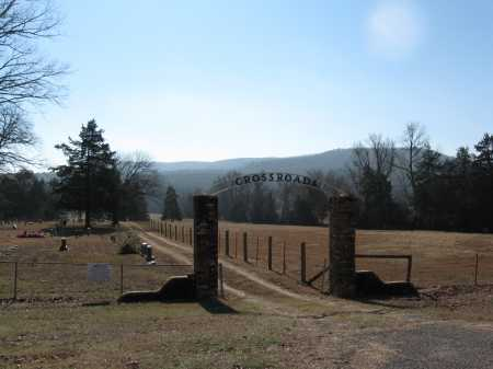 *CROSSROADS CEMETERY GATE,  - Pope County, Arkansas |  *CROSSROADS CEMETERY GATE - Arkansas Gravestone Photos