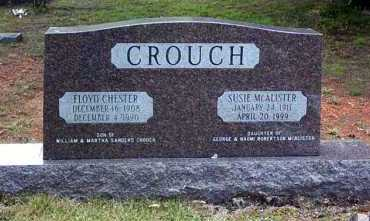 MCALISTER CROUCH, SUSIE - Pope County, Arkansas | SUSIE MCALISTER CROUCH - Arkansas Gravestone Photos