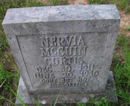 MCCUIN CURTIS, NERVIA - Pope County, Arkansas | NERVIA MCCUIN CURTIS - Arkansas Gravestone Photos