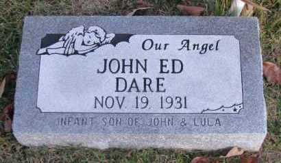 DARE, JOHN ED - Pope County, Arkansas   JOHN ED DARE - Arkansas Gravestone Photos