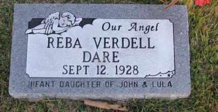 DARE, REBA VERDELL - Pope County, Arkansas | REBA VERDELL DARE - Arkansas Gravestone Photos