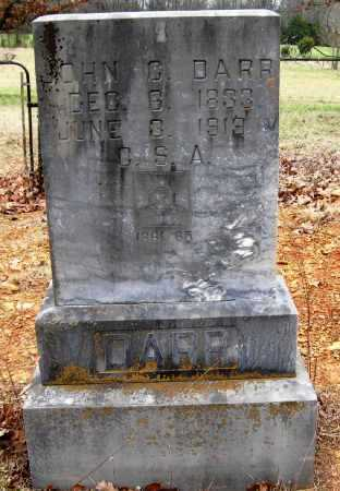 DARR  (VETERAN CSA), JOHN C - Pope County, Arkansas   JOHN C DARR  (VETERAN CSA) - Arkansas Gravestone Photos