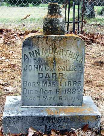 DARR, ANNA DARTHULA - Pope County, Arkansas | ANNA DARTHULA DARR - Arkansas Gravestone Photos