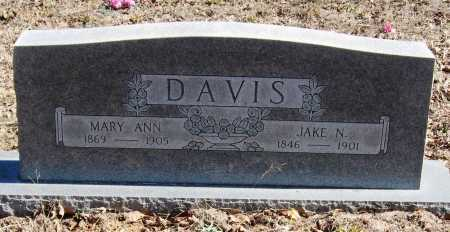 DAVIS, MARY ANN - Pope County, Arkansas | MARY ANN DAVIS - Arkansas Gravestone Photos
