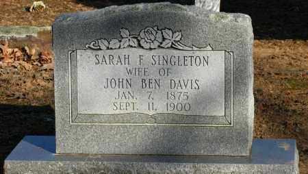 SINGLETON DAVIS, SARAH F - Pope County, Arkansas   SARAH F SINGLETON DAVIS - Arkansas Gravestone Photos