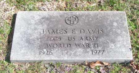 DAVIS (VETERAN WWII), JAMES E - Pope County, Arkansas   JAMES E DAVIS (VETERAN WWII) - Arkansas Gravestone Photos