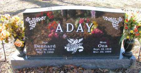 ADAY, DENNARD - Pope County, Arkansas | DENNARD ADAY - Arkansas Gravestone Photos