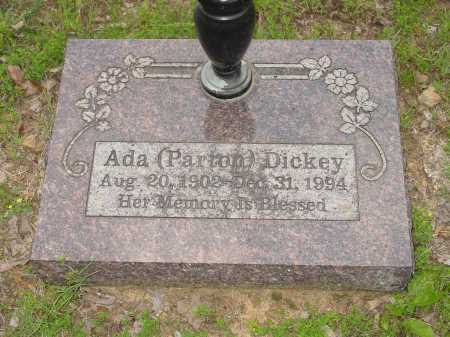 PARTON DICKEY, ADA - Pope County, Arkansas | ADA PARTON DICKEY - Arkansas Gravestone Photos