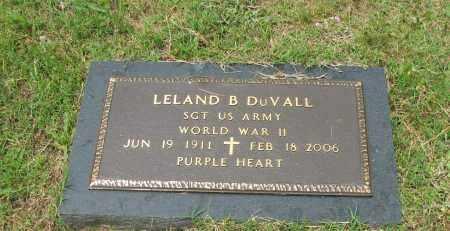 DUVALL  (VETERAN WWII), LELAND B - Pope County, Arkansas | LELAND B DUVALL  (VETERAN WWII) - Arkansas Gravestone Photos