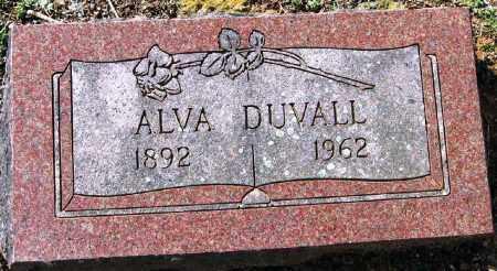 DUVALL, ALVA - Pope County, Arkansas | ALVA DUVALL - Arkansas Gravestone Photos