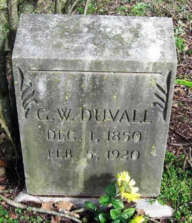 DUVALL, G  W - Pope County, Arkansas | G  W DUVALL - Arkansas Gravestone Photos