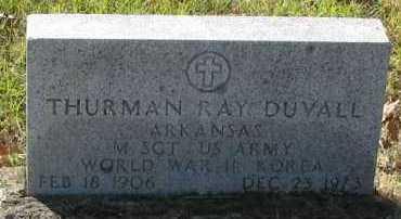 DUVALL (VETERAN 2WARS), THURMAN RAY - Pope County, Arkansas | THURMAN RAY DUVALL (VETERAN 2WARS) - Arkansas Gravestone Photos
