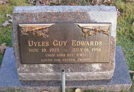 EDWARDS (VETERAN WWII), UYLES GUY - Pope County, Arkansas | UYLES GUY EDWARDS (VETERAN WWII) - Arkansas Gravestone Photos