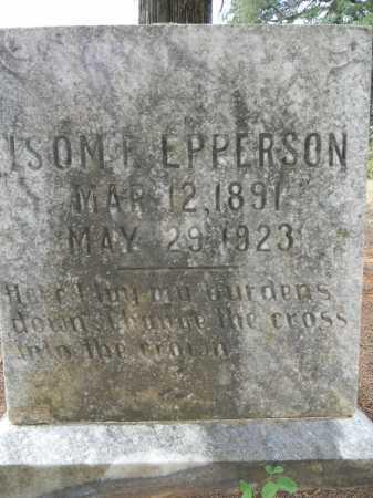 EPPERSON, ISOM E - Pope County, Arkansas | ISOM E EPPERSON - Arkansas Gravestone Photos