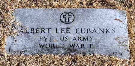 EUBANKS  (VETERAN WWII), ALBERT LEE - Pope County, Arkansas | ALBERT LEE EUBANKS  (VETERAN WWII) - Arkansas Gravestone Photos